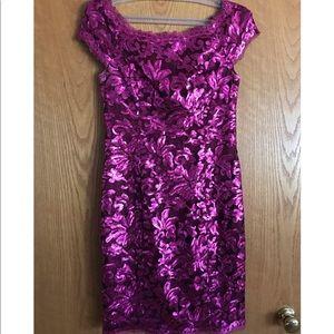 Pink sequined formal dress